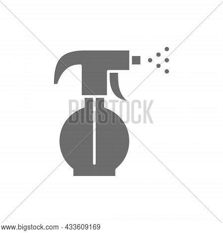 Sprayer, Sprinkler, Water Spray Bottle Grey Icon.