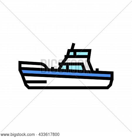 Game Boat Color Icon Vector. Game Boat Sign. Isolated Symbol Illustration