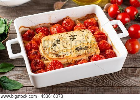 Baked Feta Pasta. Feta Cheese And Tomatoes In Garlic Oil. In The Oven It Turns Into An Amazing Pasta