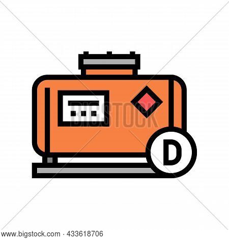 Diesel Gas Station Color Icon Vector. Diesel Gas Station Sign. Isolated Symbol Illustration