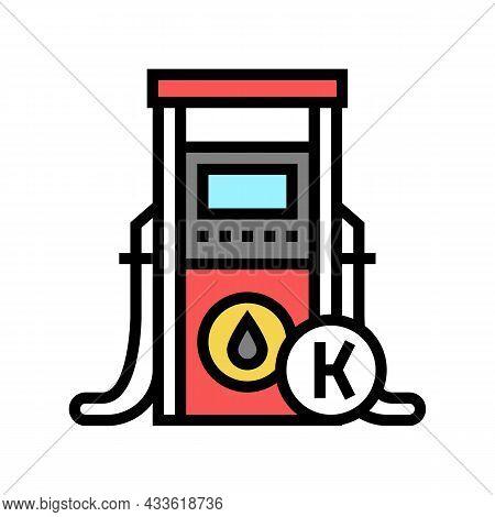 Kerosene Gas Station Color Icon Vector. Kerosene Gas Station Sign. Isolated Symbol Illustration