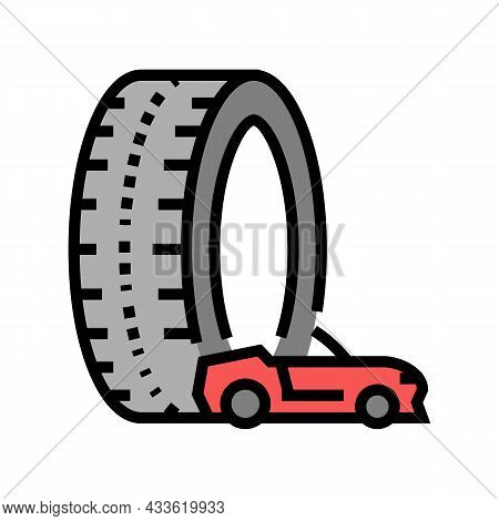 High Performance Tires Color Icon Vector. High Performance Tires Sign. Isolated Symbol Illustration