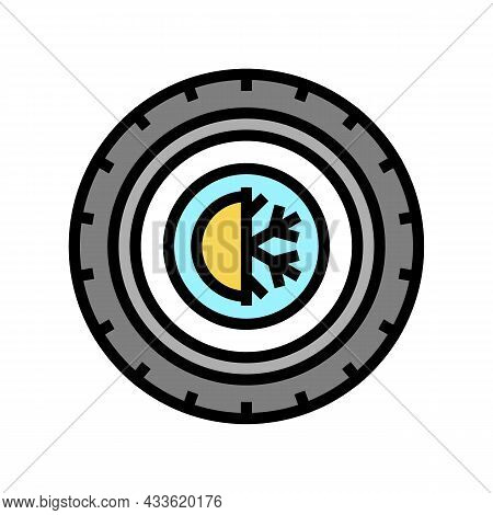 All Season Tires Color Icon Vector. All Season Tires Sign. Isolated Symbol Illustration