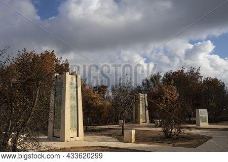 Pilots' Mountain, Israel - September 11th, 2021: The Israeli Airforce Memorial In Har Tayyasim ( Pil