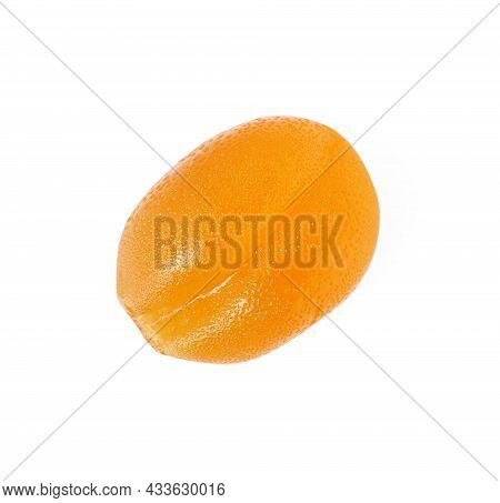 Delicious Fruity Gummy Candy Isolated On White, Top View