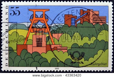 stamp printed in Germany shows Scenic Regions in Germany Ruhr Region