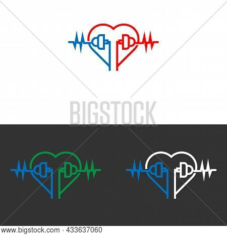 Mobile Wave Music Icon Logo For Music Web Music Applications, Music T-shirts, Recording Music Studio
