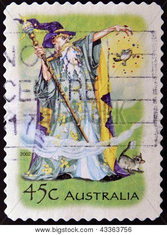 AUSTRALIA - CIRCA 2002: A stamp printed in Australia shows Wizard, circa 2002