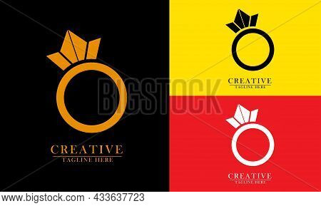 Pearl Eye Ring, Great For Wedding Icon Logo, Preweding, Party, Loved Ones, Inauguration. Vector Conc