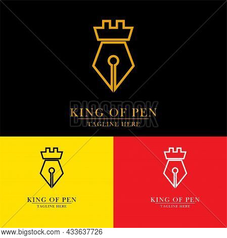 Ballpoint Pen With A King Crown, Good For Pen King Logo Icons, Drawing Arts, Professional Painters,
