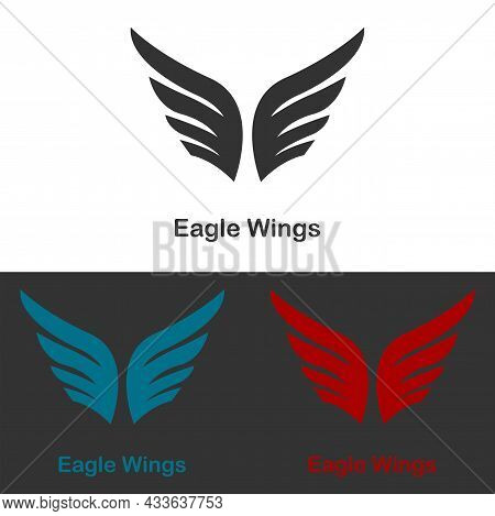 Two Flaps Of Eagle Wings, Great For Logo Icon Spirit To Reach For Dreams, Achieve Goals, Travel, Pla