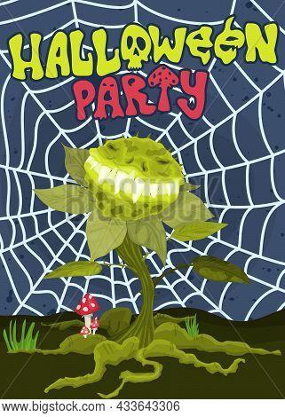 Monster Predator Plant Halloween Poster October New