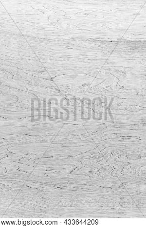 Top-down Of Pattern And White Soft Wood Surface As Background Texture. Vertical Stripes Of Old Plywo