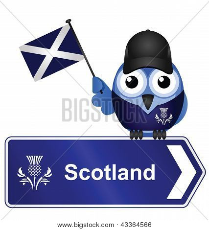Country sign Scotland