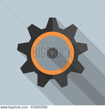 Gear Wheel Or Cogwheel Symbol Vector Illustration