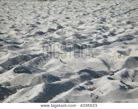 soft fine tropical sand on the beach poster