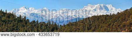 Himalaya, Panoramic View Of Indian Himalayas, Great Himalayan Range, Uttarakhand India, Gangotri Ran