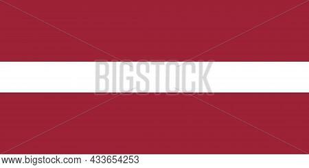 National Flag Of Latvia Original Size And Colors Vector Illustration, Latvijas Karogs Designed By An