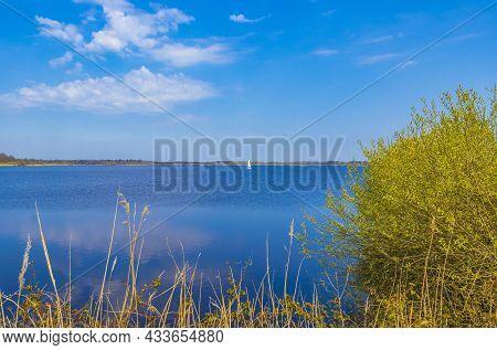 Bad Bederkesa Lake See Natural Landscape On Sunny Day Germany.
