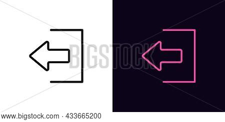 Outline Logout Icon, With Editable Stroke. Linear Exit Sign, User Output Pictogram. Online Access, L