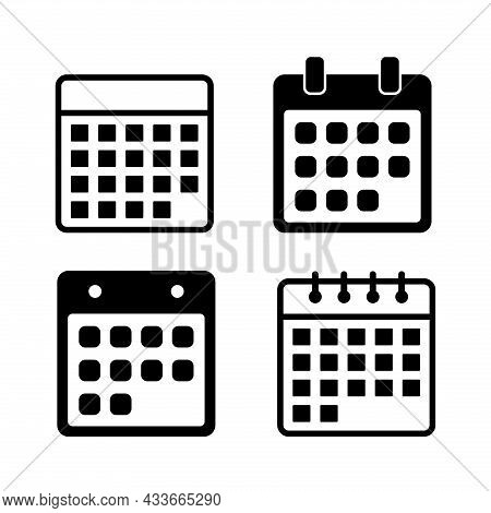 Set Of Calendar Icon. Calendar Icon Vector Design Illustration. Calendar Icon Simple Sign. Calendar