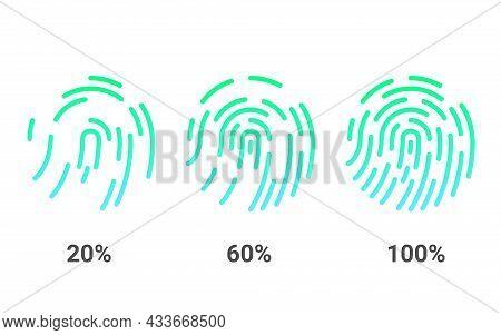 Fingerprints. Biometric Identification And Cybersecurity. Fingerprint Authorization.