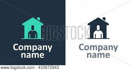 Logotype Shelter For Homeless Icon Isolated On White Background. Emergency Housing, Temporary Reside