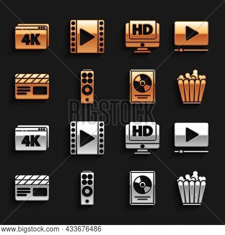 Set Remote Control, Online Play Video, Popcorn Box, Cd Disk Award Frame, Movie Clapper, Monitor With