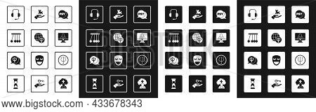 Set Psychology, Psi, Pendulum, Psychologist Online, Solution To The Problem, And Icon. Vector