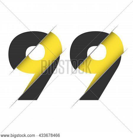 99 9 Number Logo Design With A Creative Cut. Creative Logo Design.