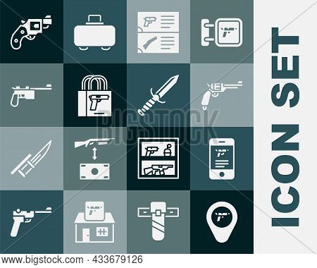 Set Location With Weapon, Shop In Mobile App, Revolver Gun, Weapon Catalog, Buying Pistol, Mauser, S