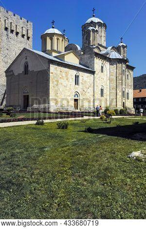 Medieval Buildings At Manasija Monastery, Serbia