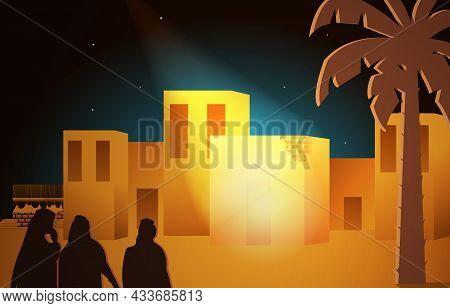 Maulid Nabi Prophet Muhammad Birthday Mecca Islam History Islamic Illustration