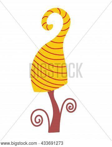 Fabulous Mushroom On An Isolated Background. Autumn Couple. Inedible Mushroom. Logo, Badge Or Flyer
