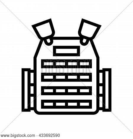 Body Armor Line Icon Vector. Body Armor Sign. Isolated Contour Symbol Black Illustration