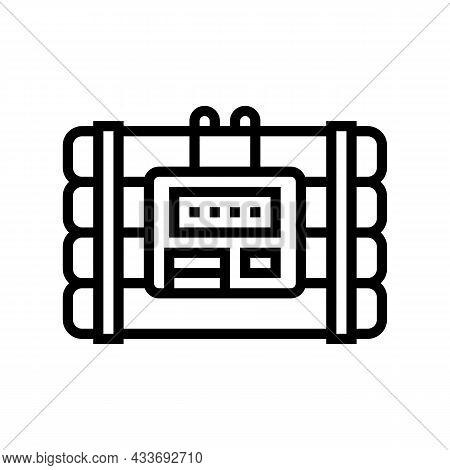Bomb Danger Line Icon Vector. Bomb Danger Sign. Isolated Contour Symbol Black Illustration