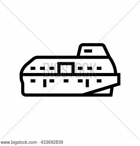 Lifeboat Boat Line Icon Vector. Lifeboat Boat Sign. Isolated Contour Symbol Black Illustration