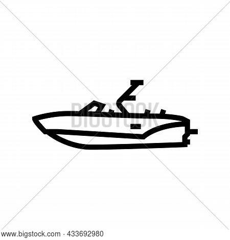 Bowrider Boat Line Icon Vector. Bowrider Boat Sign. Isolated Contour Symbol Black Illustration