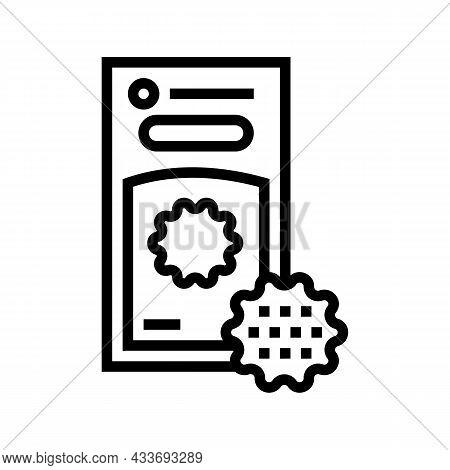 Laundry Balls Line Icon Vector. Laundry Balls Sign. Isolated Contour Symbol Black Illustration