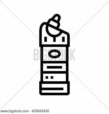 Detergent Bottle Line Icon Vector. Detergent Bottle Sign. Isolated Contour Symbol Black Illustration