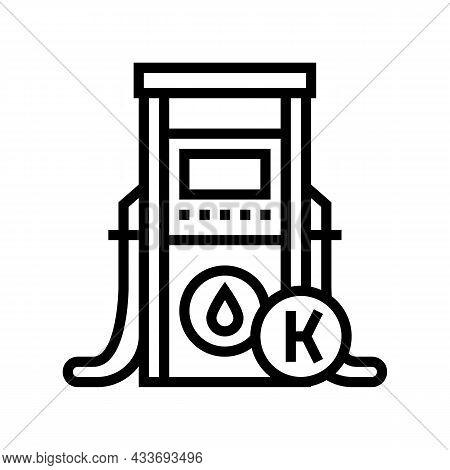 Kerosene Gas Station Line Icon Vector. Kerosene Gas Station Sign. Isolated Contour Symbol Black Illu