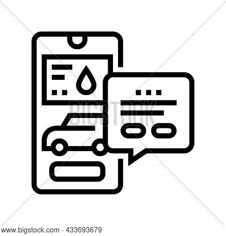 Store Gas Station Line Icon Vector. Store Gas Station Sign. Isolated Contour Symbol Black Illustrati