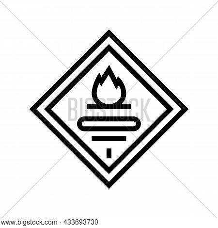 Fuel Carrying Truck Line Icon Vector. Fuel Carrying Truck Sign. Isolated Contour Symbol Black Illust