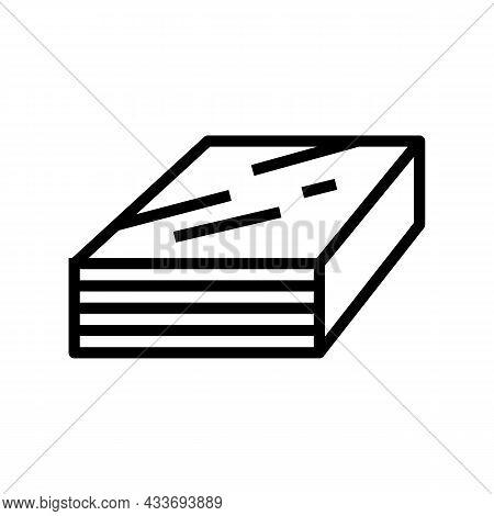 Impreg Timbers Line Icon Vector. Impreg Timbers Sign. Isolated Contour Symbol Black Illustration