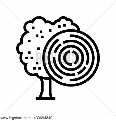 Rose Wood Line Icon Vector. Rose Wood Sign. Isolated Contour Symbol Black Illustration