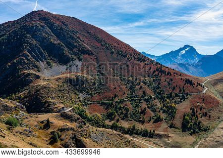 View Of The Mountains Around Alpe D\'huez In The French Alps, France Europe