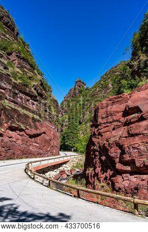 The Gorges Du Cians, Famous Canyon In Alpes-maritimes, Provence-alpes-cote-d\'azur, France
