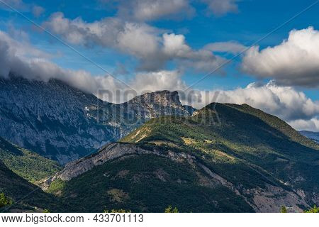 Landscape View At Le Paquier Near Annecy In Haute-savoie In The Auvergne-rhone-alpes Region Of Franc