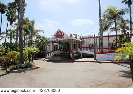 September 16, 2021 Redondo Beach California: Joe's Crab Shack. Sea Food Restaurant named Joe's Crab Shack. Specializing in Crab from around the world. Crab and Sea Food Restaurant. Editorial.