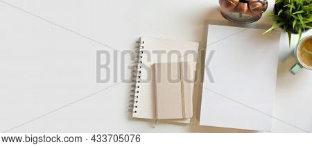 Blank Book Cover, Diary, Notepads, Booklet And Mock-up Space
